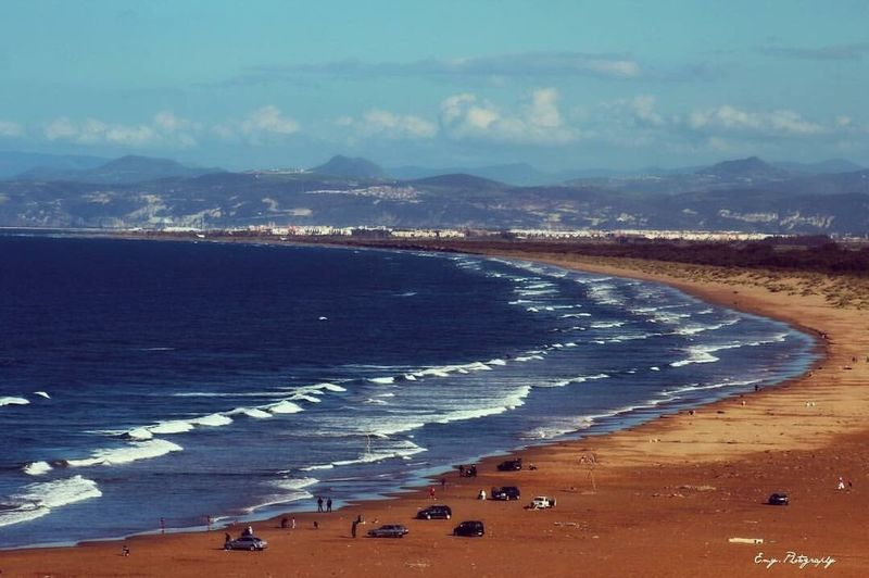 Sea Aerial View Mountain Water Nature Beauty In Nature Sky Tranquility Saidia Beach morocco