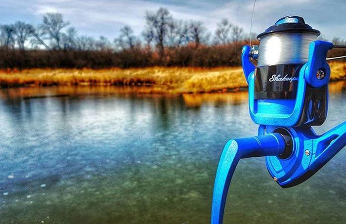 Fishing at Minot Nd Lake Darling