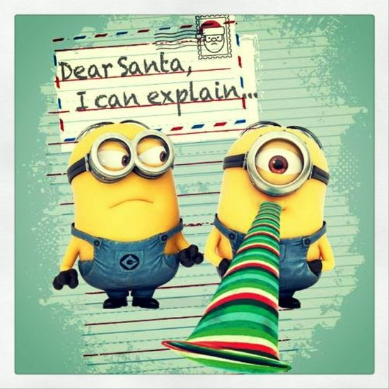 Wish u a merry chirstmas and a happy new year...... Chirstmas Wishes Minions Exiciting
