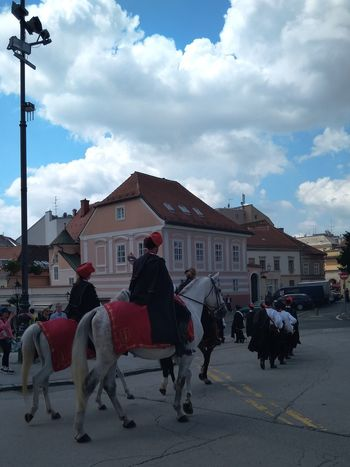 Streetphotography Outdoors No Filter Man And Horse Sky And Clouds Outdoors Army National Guard Zagreb, Croatia Zagreb Tak Imam Te Rad Tradition Nacional Treasure Politics And Government City Full Length Sky Architecture Cloud - Sky Horse Working Animal