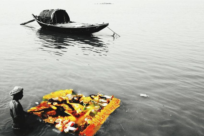 Ganga Ghat Calcutta Festive Season Durgapuja