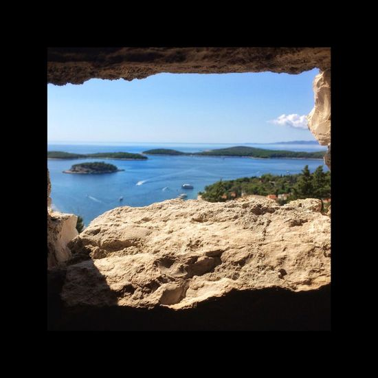Our view over the Hvar archipelago Nature Sea Scenics Summer Exploremore Traveltogether Travelphotography Perspectives On Nature Through The Window Insight first eyeem photo