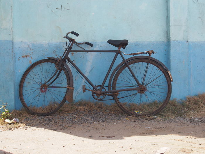 Bicycle Bike Blue Fahrrad No People Parked Rusty Travel Photography Showcase July
