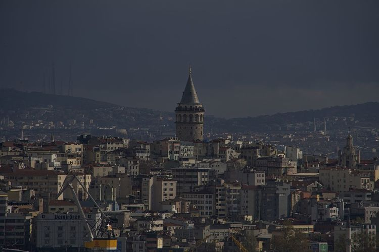 Galata Tower Istanbul Turkey Architecture Building Exterior City Cityscape Day No People Outdoors Sky Skyscraper