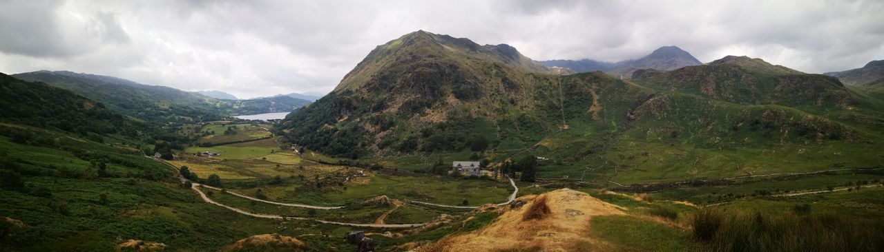 Snowdonia Snowdonia Wales Visitwales Huaweiphotography Huawei P20 Panoramic Photography Tree Mountain Rice Paddy Agriculture Rural Scene Sky Landscape Mountain Range Valley Mountain Road