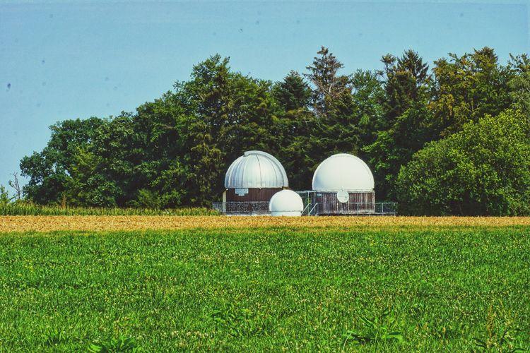 Telescope Field Rural Scene