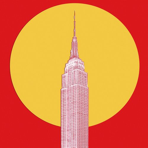 New York New York City Empire State Building NY USA Architecture Gratte Ciel Skycraper Vintage Icon Built Structure Tower City Building Exterior