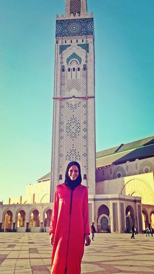 Step into the culture Arabic Culture Arabic Architecture Mosquee Hassan II Marrakech Morocco Adults Only One Woman Only Only Women One Person Hijab Session Hijabtraveller