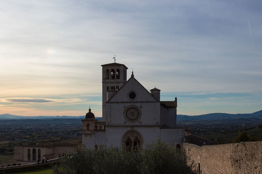 Basilica Saint Francis Of Assisi Architecture Beauty In Nature Bell Tower Building Exterior Built Structure Cloud - Sky Day Nature No People Outdoors Place Of Worship Religion Sky Spirituality Sunset