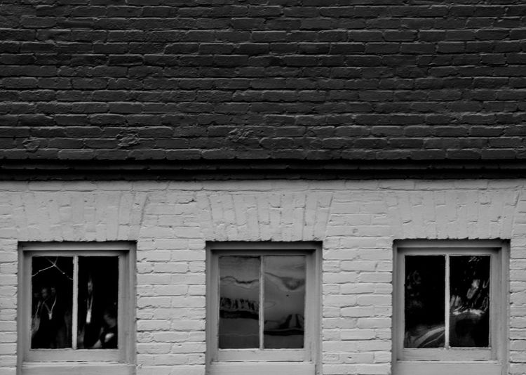 Closed window of house