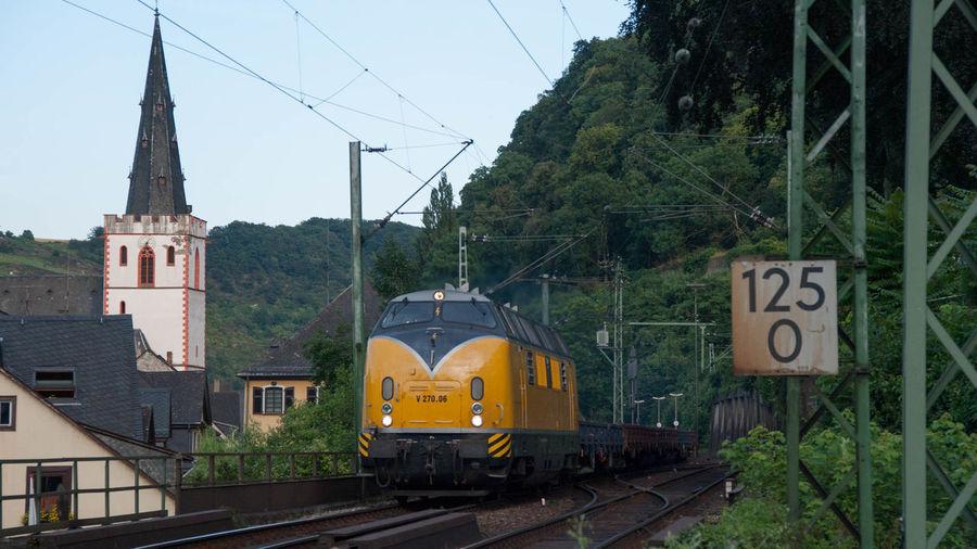 Eisenbahn Kirche Railway Rhein St. Goar V 200