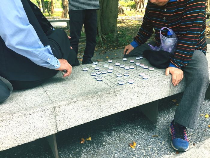Playing chess Oldman Chess Low Section Real People Men Day Group Of People Togetherness Leisure Activity Outdoors Adult This Is Aging EyeEmNewHere