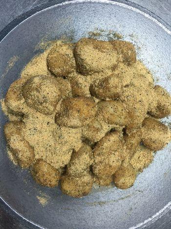 黒胡麻きな粉でお団子を作りました❣️I made a dumpling of the soybean flour😊 Dumplings Soybeanflour Favorite Japanese Sweet