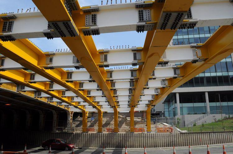 Architecture City Building Exterior Outdoors Day Built Structure Iron Beam Iron Bridge Iron Construction