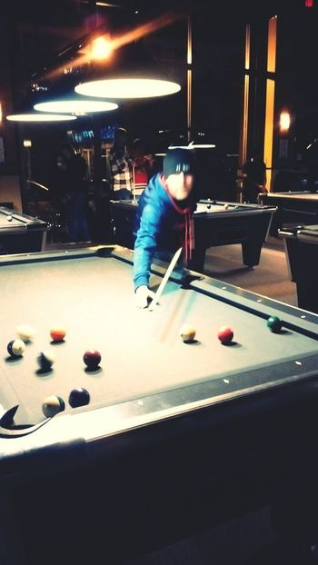 Green Pool Billiards Eightball Cueball Pool Stick Bar Bar Scene Lights Faceless Pool Table Pool Balls Shawdows