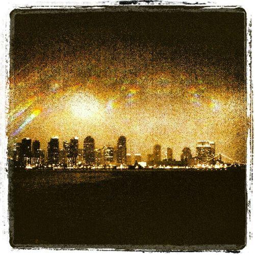 Happy St. Patty's day! Downtown Sandiego Harborisland Nighttime