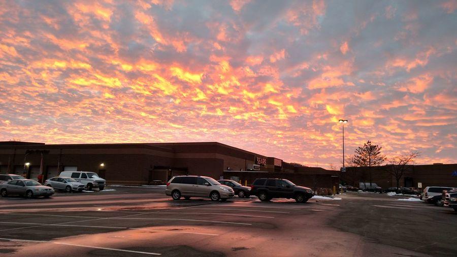 Pretty Sunset Taking Photos