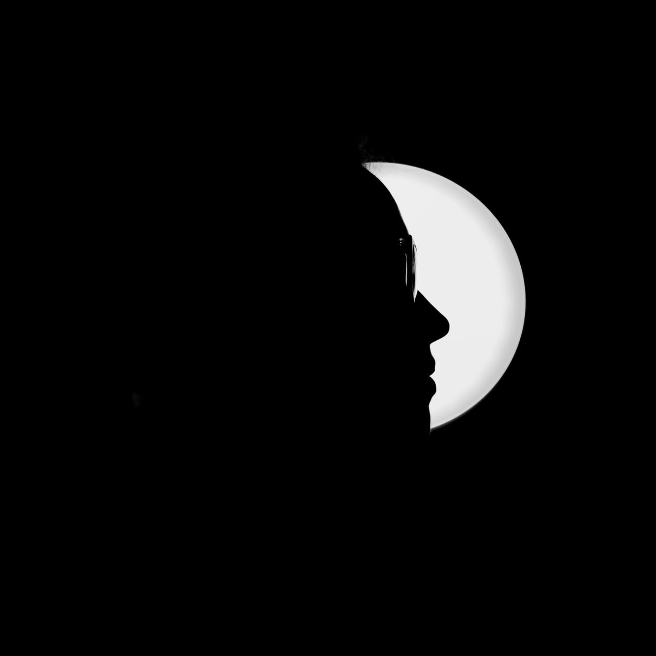 Person Against Moon At Night