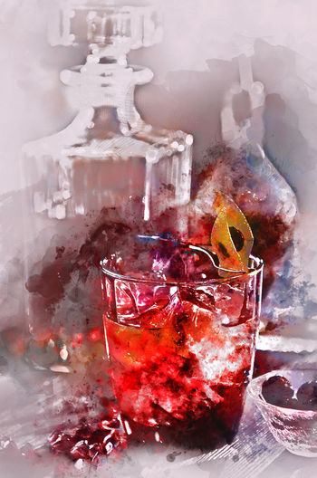 Digital watercolor painting of an alcoholic cocktail Digital Drawing Digital Paint Watercolour Alcohol Alcoholic Drink Booze Close Up Close-up Cocktail Digital Art Digital Illustration Digital Painting Digitally Altered Digitally Generated Digitally Generated Image Drink Drinking Glass Glass Glassware Illustration No People Watercolor Watercolor Painting Watercolour Painting