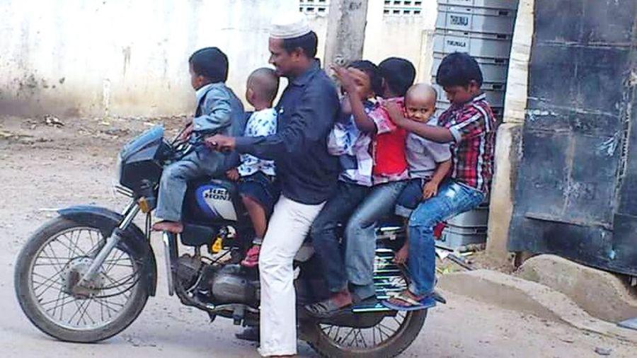 Hope he is Under Pressure. People Watching Taking Photos Fullyloaded Bike Ride