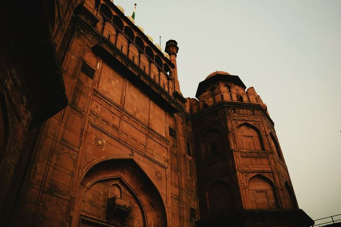 Architecture Built Structure Low Angle View Building Exterior Arch Famous Place Tourism Travel Destinations Historic Heritage Building Architecture Sandstone Red Stone Architectural Feature Redfort Full Frame Intricacy Islamic Art Islamic_art Architecture_collection Islamic Design Textured  The Past Islamic Geometry