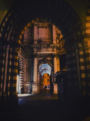 Only this. Saturdaynight Center Genova Italy Relaxing Tagsforlikes Like4like Likeforlike Architecture Built Structure No People Illuminated Archway Arch Beautiful Nice Atmosphere Love City Mine Goodnight