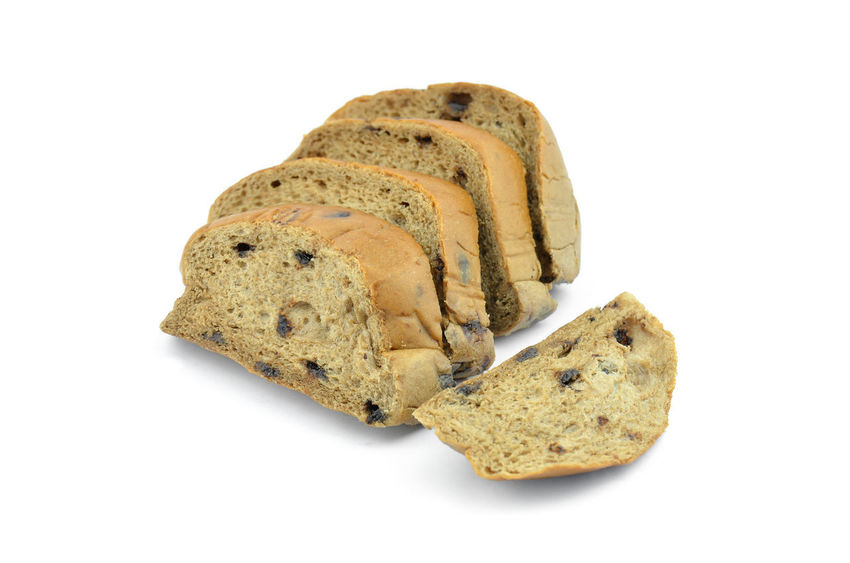 Homemade chocolate bread with chocolate chips on a white background. Breakfast Chocolate Dessert Diet Homemade Meal Raisin Wheat Baked Bakery Bread Brown Cake Chip Delicious Food Fresh Grain Healthy Loaf Nutrition Nutritious Pastry Tasty White Background