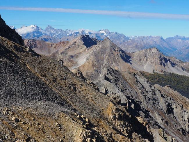 Mountain Range Beauty In Nature Environment Landscape Mountain Peak Snowcapped Mountain Mountain Nature Queyras Geology EyeEm Nature Lover EyeEmNewHere