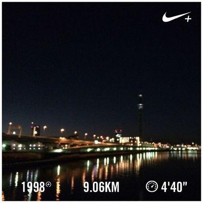 Running Nike Run Japan Skytree スカイツリー GYAKUSOU Nikeplus 隅田川 ランニング Sumida ナイキ 隅田川テラス 白鬚橋 Sumidariver ラン 親水テラス