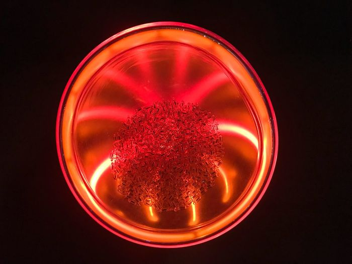 Red plasma Magical Red Light Plasma Sphere Science And Technology Indoors  No People