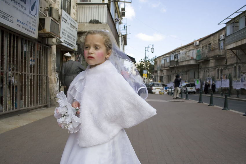 City Day Holiday Kids Lifestyles Person Photo Jerusalem Purim Religion People Photography Culture People Costume Sedness Girl City Life White Children Photography Street Art Streetphotography Girls Religious