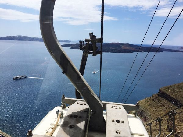 Cable Car NeaKameni Fira Santorini Thira Santorini, Greece Santorini 🚡🇬🇷