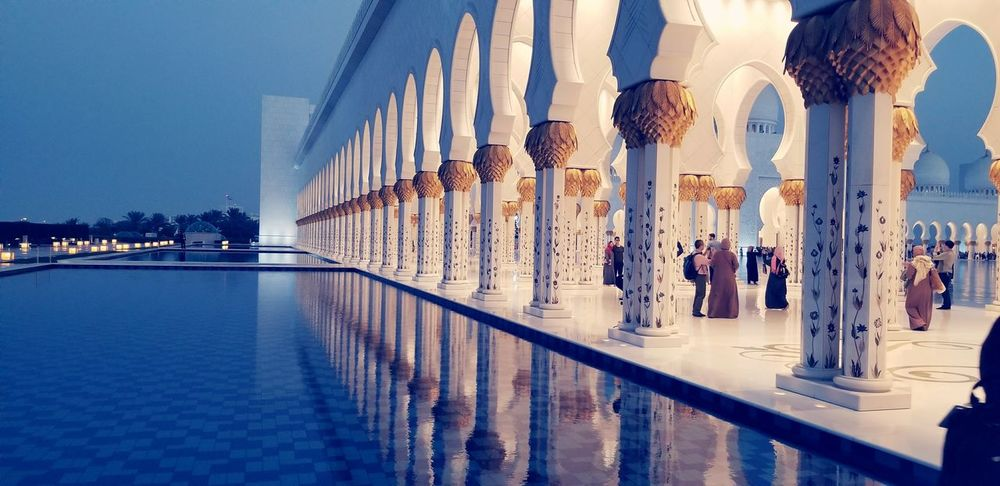 This is one place you have to see to believe Mosque UAE Beautiful EyeEm Selects Museum Water Indoors  Day First Eyeem Photo