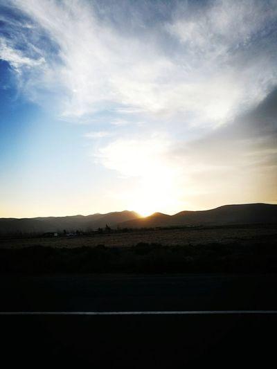 Sunset Desert Rural Scene Silhouette Mountain Sky Landscape Arid Landscape Arid Climate