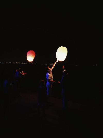 Night Illuminated Togetherness Men Full Length Person Lifestyles Glowing Dark