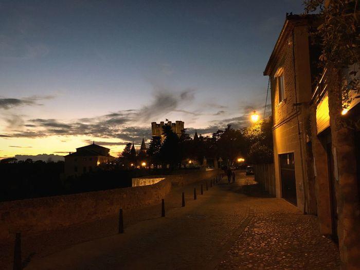 Night Falls. Dusk Sunset Town Village Street
