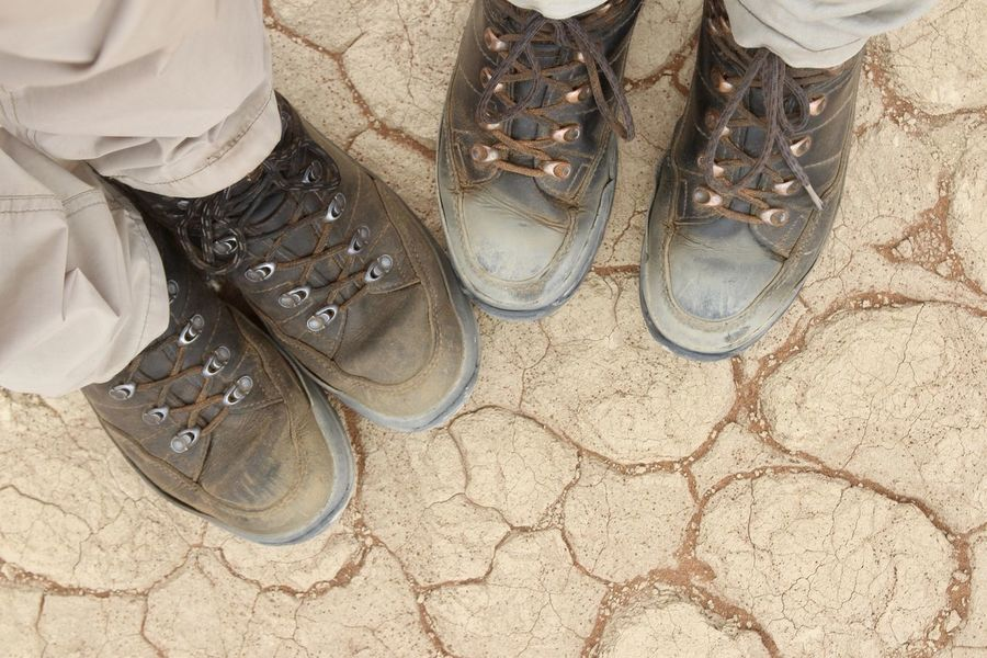 Together we stand Adventures Adventurous Desert Hiking Namib Desert Namibia Trekking Arid Climate Close-up Couple - Relationship Cracked Earth Hiking Boots Hikingboots Human Body Part Outdoors Pair People Real People Shoe Togetherness Togheter We Stand