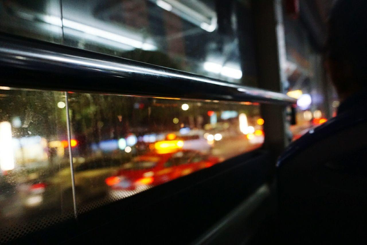 illuminated, transportation, mode of transport, night, land vehicle, no people, public transportation, window, train - vehicle, architecture, indoors, close-up