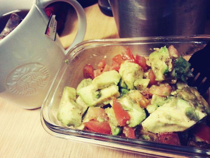 Breakfast Tea Break Avocado With Balsamic Vinegar