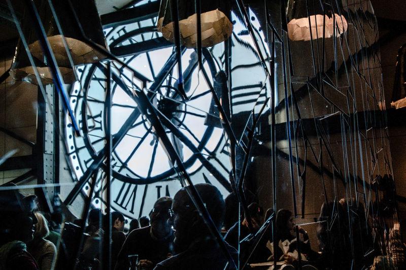 Art Clocksoftheworld Close-up Day Geometric Shape Glass Mirror Modern Museum Of Modern Art No People Paris Reflections