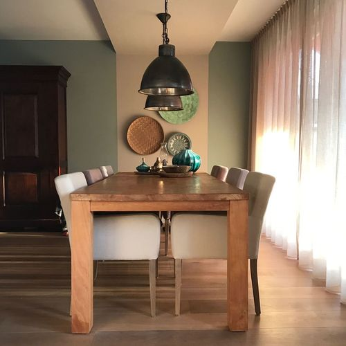 dinningroom Chair Diningroom Dinning Table Domestic Room Home Interior Home Showcase Interior Indoors  Lamps No People Table Wood - Material
