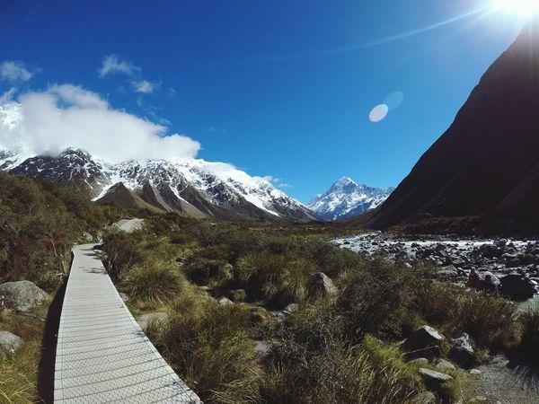 keep walking Newzealandnatural Mountcooknationalpark Traveler Nature Amazing View