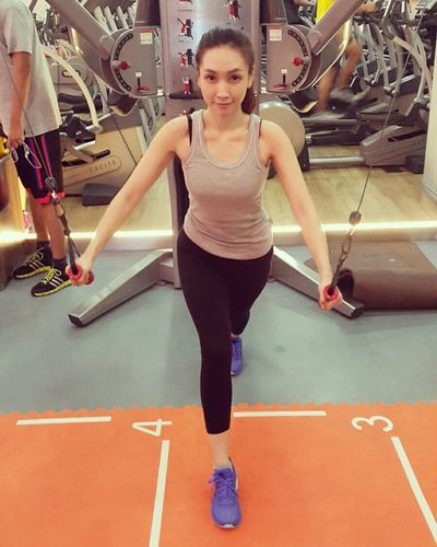 Fit Fit 💪 หมูแข็งแรง 😄 Sunday Fitness Fit&firm Slow Life Strong Girl Burning