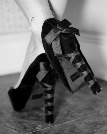 Keep your heels high and your standards higher. Bows Heels Anklet Black Feet Monochrome Shoe Fetish Shoes