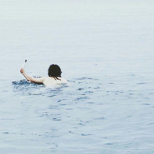 ♡ Love Swimming Boy Sea Seascape Seaside Bluethings Water Waves