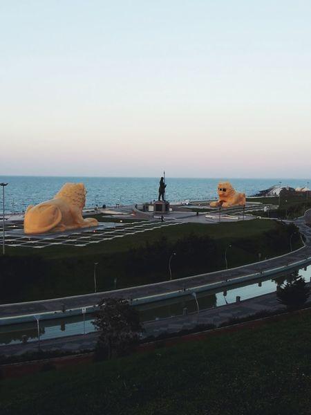 Samsun Amisos Leo Aslan Sea Water Horizon Over Water Beach Day No People Outdoors Sky Clear Sky Nature
