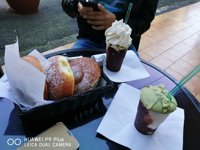 Granita Food And Drink Food High Angle View Indoors  Sweet Food Unhealthy Eating Indulgence Ready-to-eat Freshness Temptation Bun Dessert One Person Fast Food People Human Body Part Adult Adults Only One Man Only Day Panna Granita Al Pistacchio