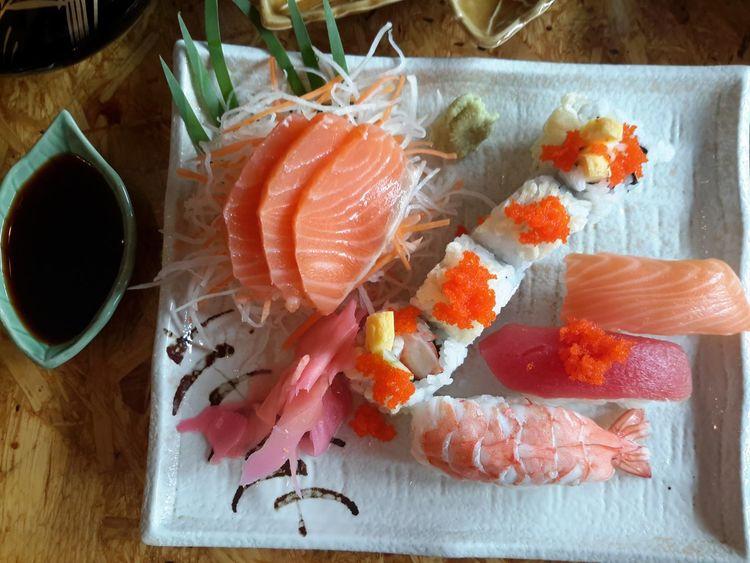 Freshness Close-up Indoors  Food And Drink Sushi Sasimi Salmon Sashimi Sushi Time Japanese Food