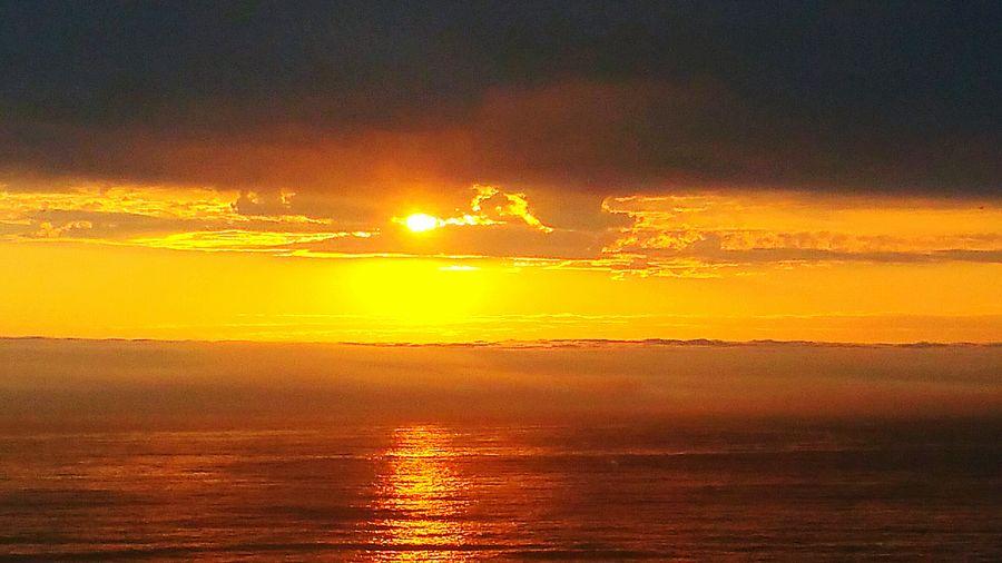From My Doorstep Bright Sunset Setting Sun Beach U.S.A. Lincoln Beach Beachphotography Colourful Ocean