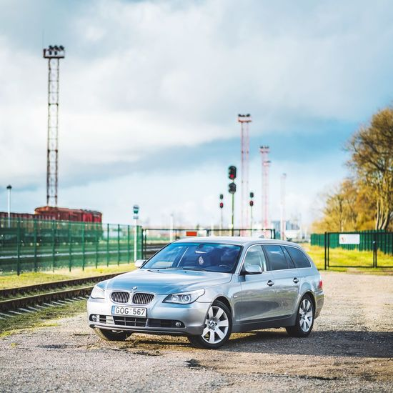 Outdoors Car No People Sky Day Bmxphotography Bmw 530d Bmw5 Bmx Is My Life E61 Luxury Bmw Photoshooting Photography Land Vehicle Street